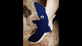 How to crochet shark slippers free pattern