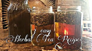How To Make Your Own Herbal Tea🌿🍵 3 Of My Favorite Blends