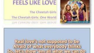 Feels Like Love - Cheetah Girls with Lyrics on Screen