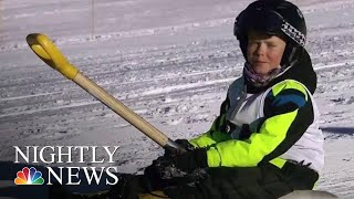 The New Winter Sport You Can Do At Home   NBC Nightly News