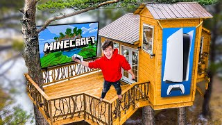 I Built A $20,000 Gaming Treehouse *epic*
