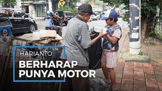 Angkut Sampah Ditemani Cucu, Harianto Berharap Miliki Motor untuk Gerobak Sampahnya