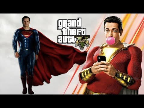 SHAZAM VS SUPERMAN!! (GTA 5 PC MODS)