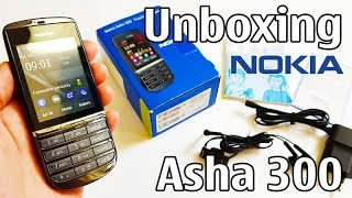 Nokia Asha 300 Unboxing 4K with all original accessories RM-781 review