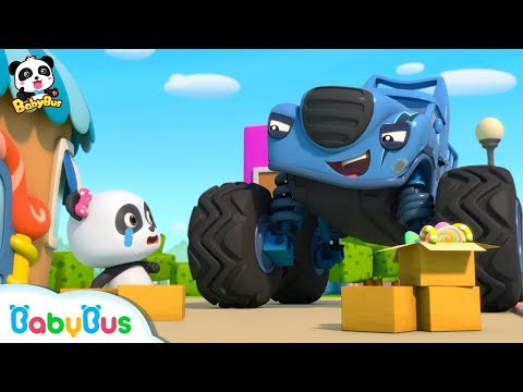 Bad Monster Car Stole Panda Miumiu's Candy | Monster Police Car | Car Songs & Story | BabyBus