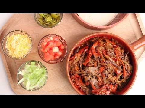 Crock Pot Beef Fajitas Recipe – Laura Vitale – Laura in the Kitchen Episode 877