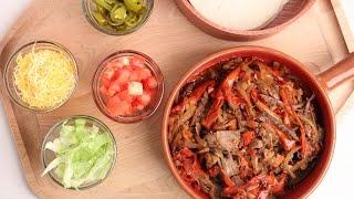 Crock Pot Beef Fajitas Recipe - Laura Vitale - Laura In The Kitchen Episode 877