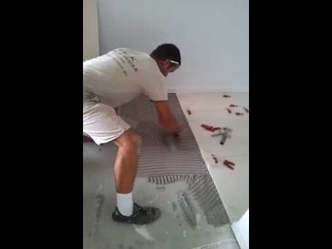 How to install 600 x 600 tiles TO DO TILING