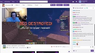 A Twitch streamer calls me out for HACKING in Bedwars LIVE