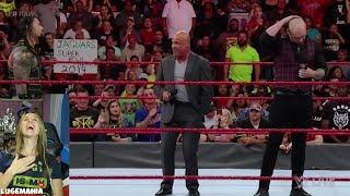 WWE Raw 8/6/18 Kurt tells Roman to Kick Brocks Butt