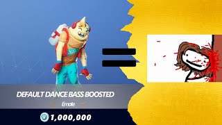 Default Dance Bass Boosted In Fortnite {0% - 200%}