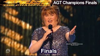Gambar cover Susan Boyle sings I Dreamed a Dream Simon Gets Nostalgic | America's Got Talent Champions Finals AGT
