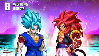 [What-If] Super Saiyan 4 Gogeta VS Super Saiyan Blue Vegito.