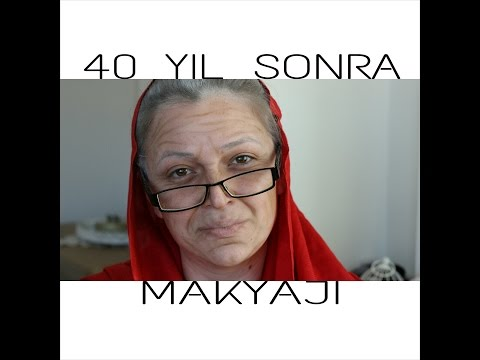 YAŞLANDIRMA MAKYAJI (40 YIL SONRA BEN :) || OLD AGE MAKE UP TUTORIAL