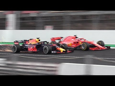 Formula 1 (F1) 2018 Sound & Action from Day 2 of Pre-Season Winter Tests!