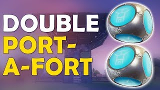 QUAD PUMP IS BACK TOO | DOUBLE PORT A FORT | NEW STRATEGY - (Fortnite Battle Royale)
