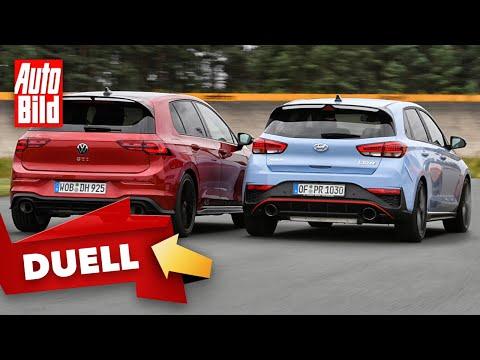 VW Golf 8 GTI Clubsport 45 vs. Hyundai i30 N Performance (2021)  Das Duell mit Dennis Petermann