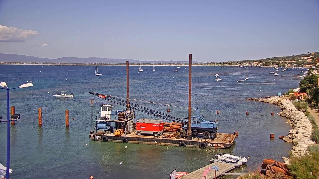 Webcam en direct d'un petit port de pêche provençal de la Madrague de Giens, près de la plage de la Madrague de Hyères