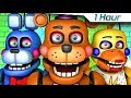 [1 Hour] Five Nights at Freddy's Song (FNAF 6 SFM 4K Rockstar)(Ocular Remix)