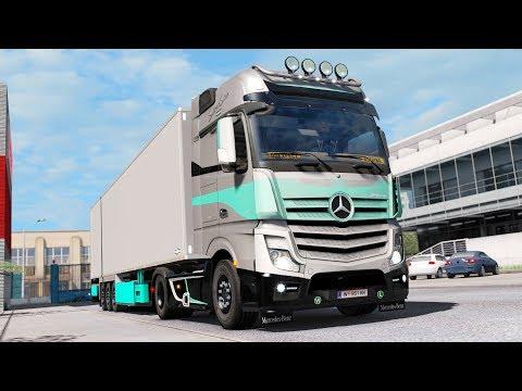 ETS2 1 32 open beta RusMap 1 8 1 Mercedes Benz Actros MP4 Kursk