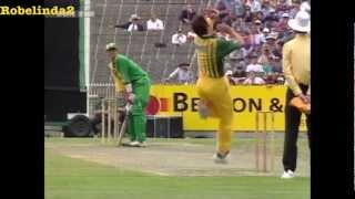Cricket - The 'Don Bradman' shot.