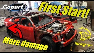 Rebuilding my wrecked charger hellcat part 4