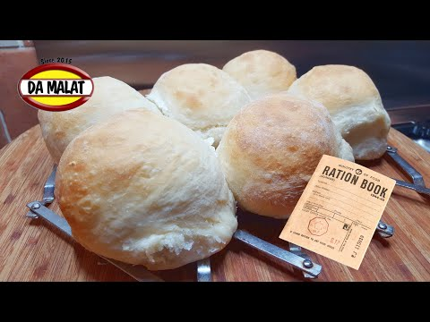 Ration Book Milk Rolls   Wartime Cooking recipe   Survival Food Cooking   Food Shortage Recipes