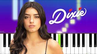 Dixie D'Amelio - Be Happy (Piano tutorial)