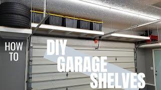 AWESOME Hanging Garage Shelves | DIY Garage Storage | Garage Makeover Pt. 4