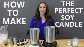 How To Make Soy Candles DIY Candle Making Tutorial