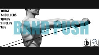 "30 MINUTE RESISTANCE BAND ""PUSH"" WORKOUT (CHEST, SHOULDERS, QUADS, TRICEPS, ABS) by Fit Gent"