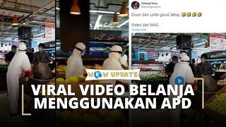 Viral Video Warga Belanja Memakai Hazmat, Erick Thohir: Tolong Media Kecam Kelakuan Ini
