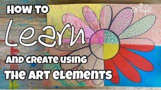 Free And Fun ART Lesson: Learn About The ART ELEMENTS #art #elementsofart #artteacher