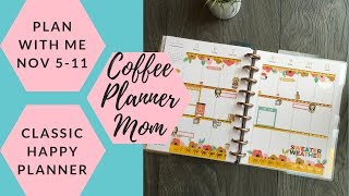 Plan With Me: November 5-11 In MAMBI Classic Happy Planner