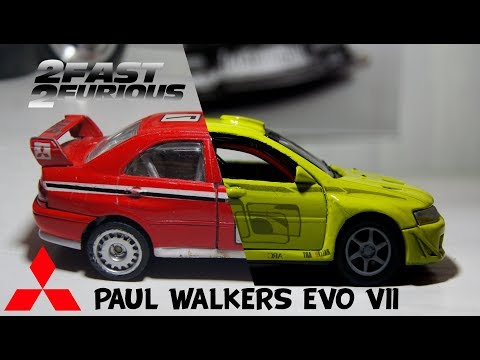 diecast custom-Bryan's Lancer evo7-customized restoration/repaint