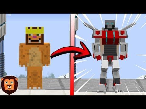 Minecraft COMO TRANSFORMARSE EN TRANSFORMER EN MINECRAFT   TRANSFORMACION DE ROBOT EN MINECRAFT