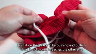 How To Put Back Drawstring Using A Paper Clip