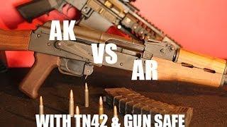 AK47 Vs AR15  Concrete Block Knock Out