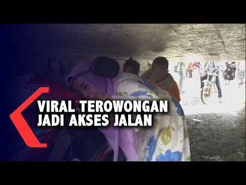 viral terowongan sempit jadi akses jalan warga