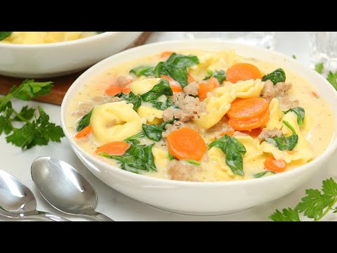 Creamy Tortellini Soup | Quick + Easy Family Dinner Recipe