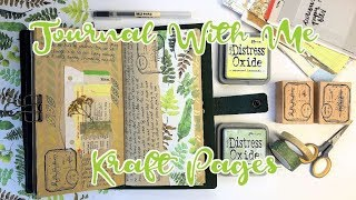 Journal With Me | Kraft Pages | Travelers Notebook