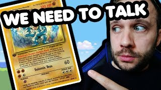 WE NEED TO TALK ABOUT THIS! Machamp 1st Edition Base Set Pokemon Card