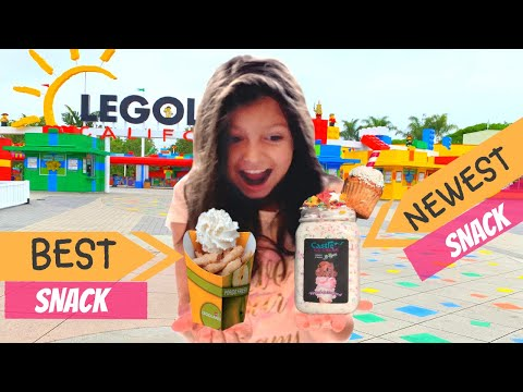 LEGOLAND'S BEST & NEWEST MUST TRY SNACKS!????APPLE FRIES & B-DAY MONSTER MILKSHAKE!!!