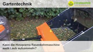 Kann die Husqvarna Rasenkehrmaschine auch Laub aufsammeln?