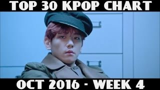 TOP 30 KPOP CHART - OCTOBER 2016 WEEK 4