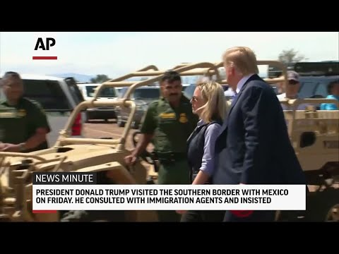 Here's the latest for Friday April 5th: President Trump visits southern border with Mexico; Joe Biden makes first public appearance after touching allegations; Man pretending to be missing boy charged; A puppy named Apple marks relocation milestone