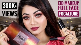 FOCALLURE One Brand Makeup Tutorial And REVIEW - EID MAKEUP Tutorial - Full Face FOCALLURE | LINDA