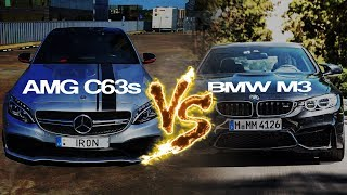 AMG C63s VS BMW M3 // KAS GERIAU? // REAL TEST DRIVE //