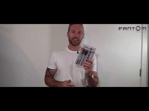 Магнитный напольный стопор / торцевой упор для двустворчатой двери Fantom Premium HGT001