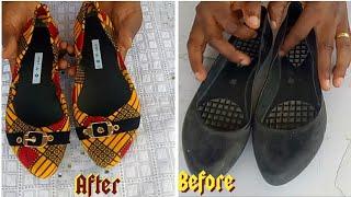 DIY Ankara Flat Shoes Revamp